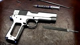 1911 Build 8 Commander 45 acp - Part 5 - Frame to Slide fitting