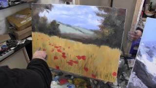 getlinkyoutube.com-маковое поле, художник Сахаров, живопись для начинающих