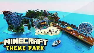 Minecraft Maps - ISLAND THEME PARK (Rollercoasters, Waterslides, & more!)