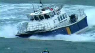 getlinkyoutube.com-Windfarm service vessel 'Island Tiger' undergoing rough weather sea trials off Cork,  2011