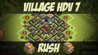 getlinkyoutube.com-Village HDV 7 Défensif / Très Efficace Pour Le Rush !!! | Clash Of Clans