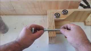 getlinkyoutube.com-Homemade lathe, tenoning machine and more
