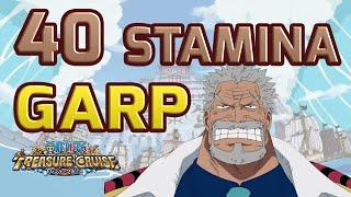 Walkthrough for 40 Stamina Garp Raid Boss! [One Piece Treasure Cruise]
