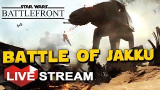 getlinkyoutube.com-Star Wars Battlefront Gameplay: HUGE Battle of Jakku, Force Awakens DLC (Live Stream)