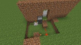 getlinkyoutube.com-Minecraft Tutorial - Password/Key locked Door w/ Hoppers (Hidden wiring)