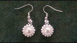 getlinkyoutube.com-Beading4perfectionists: Classy - stunning - easy to make pearl earrings beading tutorial