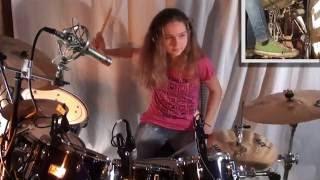 getlinkyoutube.com-Jump (Van Halen), drum cover by a 14 year old girl