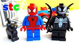 getlinkyoutube.com-LEGO Marvel Juniors Spiderman el Ataque al Auto Araña