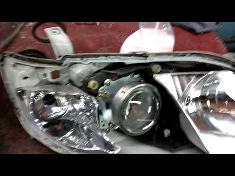 Замена штатных линз на би ксеноновые линзы Toyota Camry 2010г