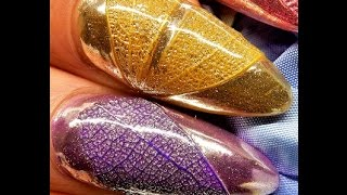 getlinkyoutube.com-Textured -- LEAF--Chrome Nails ----The TUTORIAL ---LUXA Chrome