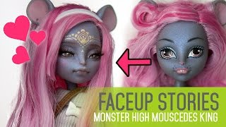 getlinkyoutube.com-Repainting Dolls - MH Mouscedes King - Faceup Stories ep.41