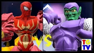getlinkyoutube.com-Marvel Super Hero Mashers Spiderman Green Goblin Level (Battles Edited)   Mix + Smash