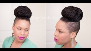 getlinkyoutube.com-Natural Hairstyle | Easy Shaved Sides & a Top Knot Tutorial (REQUESTED)