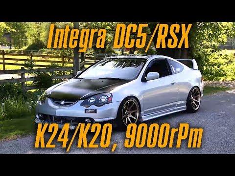 Почему нужно строить Honda Integra DC5 RSX на гибриде K24 9000 оборотов!