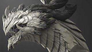 getlinkyoutube.com-Zbrush sculpting - Dragon