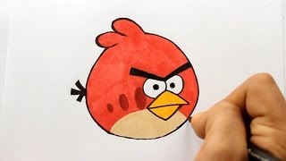 getlinkyoutube.com-Wie zeichnet man Red [Angry Birds] zeichen tutorial
