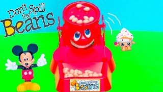 getlinkyoutube.com-Family Fun Game for Kids Don't Spill the Beans Egg Surprise Toys Mickey Mouse