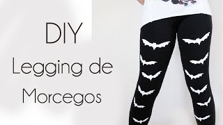 DIY: Legging de Morcegos ( How to make Bat Leggings/Tights) | Ideias Personalizadas - DIY