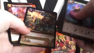 getlinkyoutube.com-Wow tcg reign of fire and cavern of time hot packs break, loot!