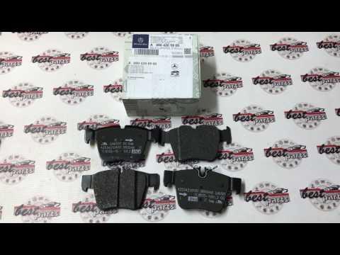 A0004205900 Колодки тормозные задние Mercedes C W205 AMG X253