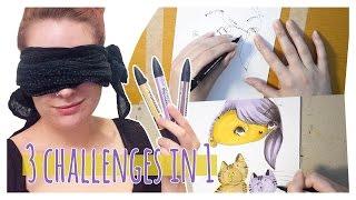 getlinkyoutube.com-3 CHALLENGES IN 1 - Blindfolded, Wrong Hand, 3 Markers