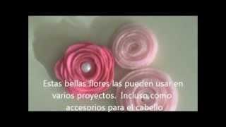 getlinkyoutube.com-Flores de Fieltro Tutorial - Scrapbook