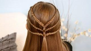 getlinkyoutube.com-Triple-Braided Tieback | Cute Girls Hairstyles