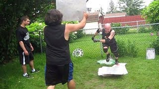 getlinkyoutube.com-Towel Match - Swede Savard (c) VS Matt Rage {CHW Championship} Backyard Wrestling