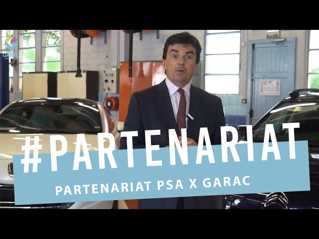 Formation des Techniciens et Vendeurs Auto : Partenariat PSA - GARAC