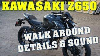 getlinkyoutube.com-2017 Kawasaki Z650 walk around details + exhaust sound