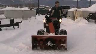 getlinkyoutube.com-Kohler Twin Cylender Home made Snowblower .
