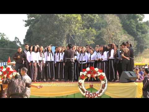 Mizo choir presents Christmas song at Thalfavang Kut Festival