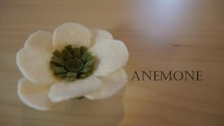 getlinkyoutube.com-How to make felt flowers - Anemone  (easy!)
