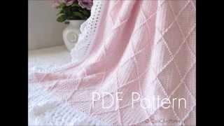 getlinkyoutube.com-Paris Knit Baby Blanket #63 CCP - Knitting (and Crochet)  Blanket - Pattern Presentation