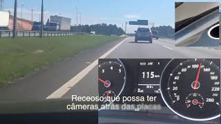 getlinkyoutube.com-Novo Golf GTI andando em companhia de um Jetta Máx: 221 km/h. Parte III