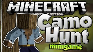 CAN YOU SEE ME!?!?! - Camo Hunt - MCPE Camouflage Challenge - Minecraft PE (Pocket Edition)