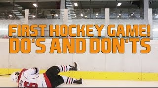getlinkyoutube.com-First Game New to Ice Hockey - What To Do And What Not To Do On Ice