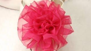 getlinkyoutube.com-DIY Tutorial How to make Easy Fabric Flower Rose, DIY, Variant #1