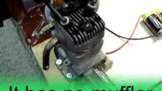 getlinkyoutube.com-Kalt .45 4 Stroke Engine is Antique.  Let's run it.