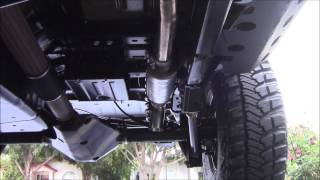 getlinkyoutube.com-2013 JK Build Part 10- Magnaflow Exhaust 17143- Please rate and comment!