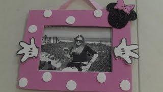 getlinkyoutube.com-Marco de fotos Minnie de carton y goma eva