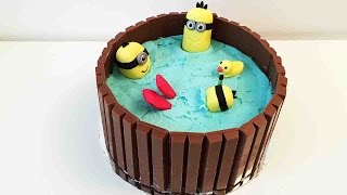 getlinkyoutube.com-Hot Tub Minion Kit-Kat Cake - Cheeky Crumbs