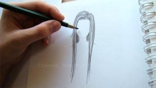 getlinkyoutube.com-Zeichnen lernen: Haare zeichnen - Einfache Frisur malen lernen - DIY Zeichnung