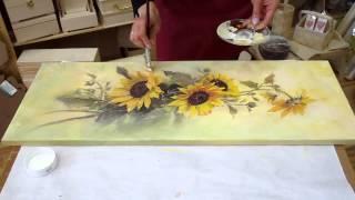 Decoupage tutorial - DIY. Decoupage on canvas. How to make canvas art.