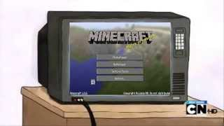 getlinkyoutube.com-Mordecai y Rigby Juegan Minecraft