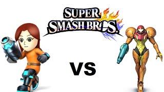 getlinkyoutube.com-Super Smash Bros 4. - Mii Gunner vs Samus