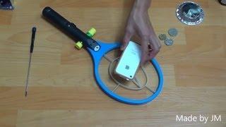 getlinkyoutube.com-BFO metal detector from Electric Fly swatter