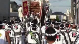 getlinkyoutube.com-BP(HD)泉大津濱八町 地車祭 上市走行編