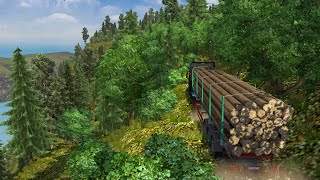 getlinkyoutube.com-Euro Truck Simulator 2 - Mapa MMG : Trilha floresta