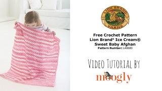 getlinkyoutube.com-How to Crochet: Lion Brand Ice Cream Sweet Baby Afghan (Right Handed)